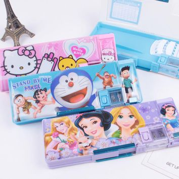 Originality More Function pencil Case Pupil Cartoon Pattern Pencil Case Children Pencil Box Cheap prices  affordable merchandise