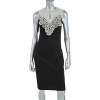 Ever-Pretty Womens Lace Overlay Glitter Cocktail Dress