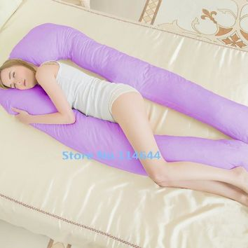 new Body Pillows Sleeping Pregnancy Pillow Belly Contoured Maternity  big U Shaped Removable Cover 11#