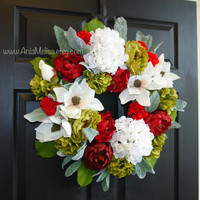 Christmas wreaths Holidays wreaths SEASON'S GREETINGS Christmas wreaths front door wreaths outdoor wreaths decorations