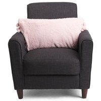 Kids 27x14 Fluffy Pom Pom Pillow - Blush Shop - T.J.Maxx