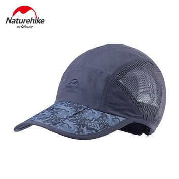 Naturehike men women sun hats breathable mesh travel caps quick drying hat outdoor sports golf running fishing camping cap