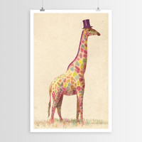 Terry Fan's Fashionable Giraffe POSTER