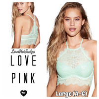 Eyelash High Neck lace Bralette