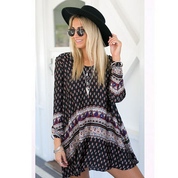 Womens Cosy AZTEC Print Dress for Summer