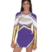 In-Stock Trophy Metallic Stretch Cheer Uniform Shell Top