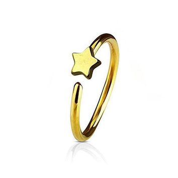 ac PEAPO2Q Men Women Star Fake Non Piercing Clip-on Nose Ring Stud Club Fashion Jewelry