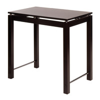 Exquisite Linea Kitchen Island Table with Chrome Accent by Winsome Woods