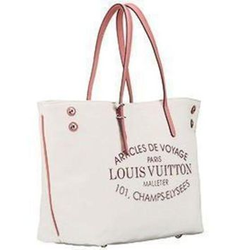 DCCKHI2 Louis Vuitton Cabas Canvas Bag Corail 607765