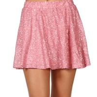 Bright Pink Sequin Circle Skirt
