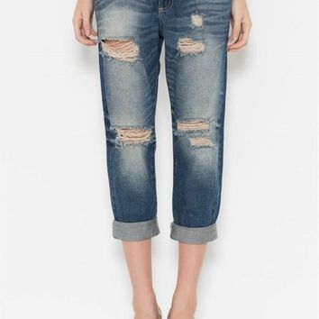 Jayden Faded Medium Wash Vintage Boyfriend Jeans