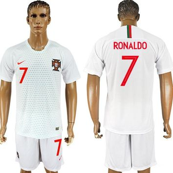 2018 World Cup Portugal Team Football Clothes Football Shirt Football Jersey Soccer Jersey Soccer Uniform (2 Piece)