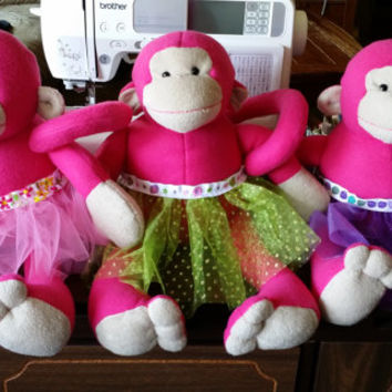 big Monkey stuffed animal wearing a cute Tutu.