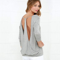 Sexy Ladies Long Sleeve T-shirts V-neck Backless Bottoming Shirt [9022365892]