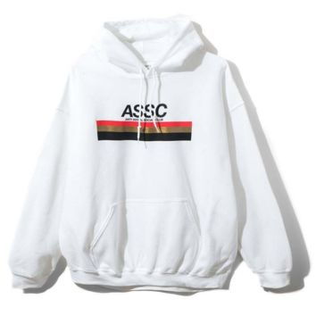 ASSC Fashion Long Sleeve Print Letter Hooded Sweater Casual Hoodie Thick