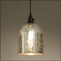 Montreat Pendant Lamp with Mercury Glass