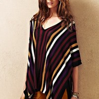 V-neck Poncho Sweater