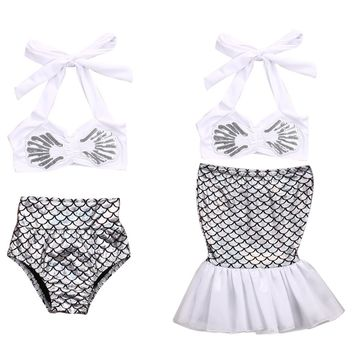 Kids Girls Mermaid Tail Bikini Trendy Lovely Cute Swimsuit Swim 6bf497a1f