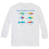 Kids Classic Lures Long Sleeve Tee Shirt in Classic White by Southern Tide