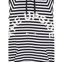The Upside - The Striped Recovery cotton-terry hooded top