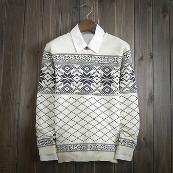 Fashion Men's Comfortable Knitted V Neck Sweater