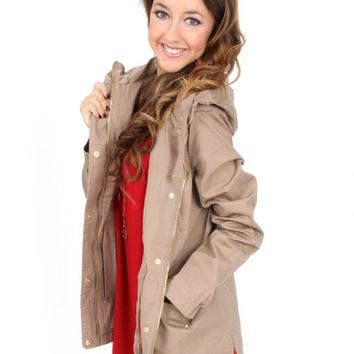 RESTOCK American Honey Khaki Anorak Jacket | Monday Dress Boutique