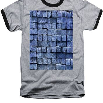 Blue Brickwork - Baseball T-Shirt