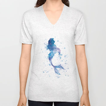Mermaid Unisex V-Neck by monnprint