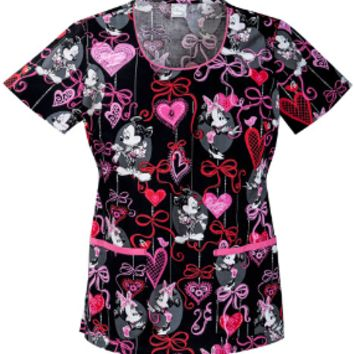 Minnie Mouse Scrub Top - Before the Date