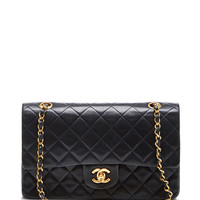 Chanel Black Lambskin 2.55 9In Shoulder Bag by What Goes Around Comes Around - Moda Operandi