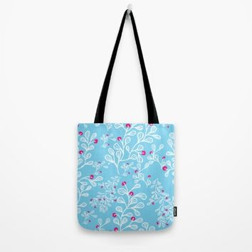 Petite mon amour sky Tote Bag by Vicky Theologidou