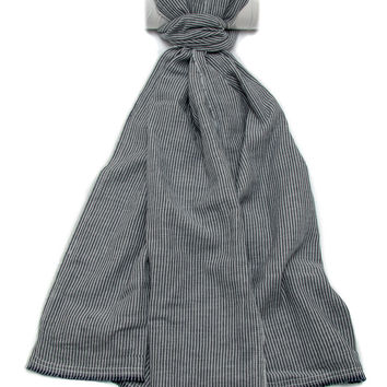 Rag & Bone Indigo Chambray Stripe Scarf