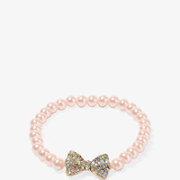 Bow Charm Pearlescent Bracelet
