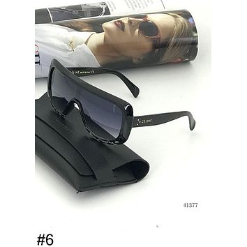 CELINE Tide brand men and women fashion one cool big box aviator sunglasses #6