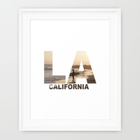 California Surfer Framed Art Print by Maureen Bates Photography