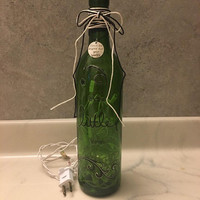 Wine Bottle Lamp / Its The Little Things Night Light