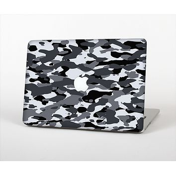 The Traditional Black & White Camo Skin Set for the Apple MacBook Pro 13""