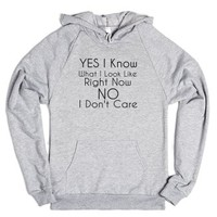 Yes I Know What I Look Like-Unisex Heather Grey Hoodie