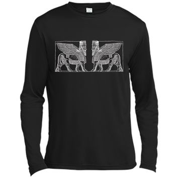 Anunnaki Ancient Alien Guardian  Long Sleeve Moisture Absorbing Shirt