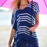 Seafolly Indigo Miami Utopia Kaftan - Buy this beautiful Beach Coverup at Coco Bay with Next Day Delivery and Free UK Returns/Exchanges