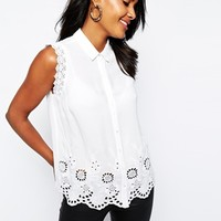 River Island Victoriana Sleeveless Blouse