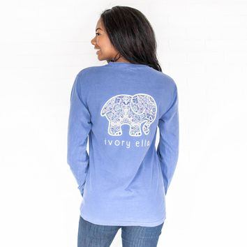 Classic Fit Flo Blue Rosemale Tee