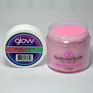 Glam and Glits GLOW ACRYLIC Glow in the Dark Nail Powder 2010 - VINTAGE VIGNETTE