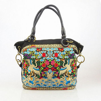 Embroidery bag Ethnic Knitting bag china Retro National characteristics women shoulder bags messenger bags free shipping  JW028