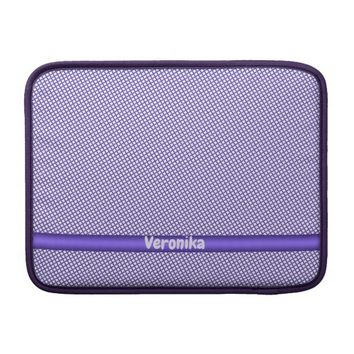 Violet small plaid pattern. Add name. MacBook Sleeve