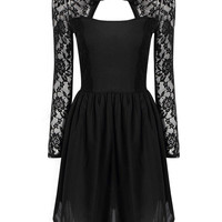 Black Lace dress with Cut-out Details not available