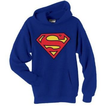 DC COMICS SUPERMAN SHIELD HOODED SWEATSHIRT