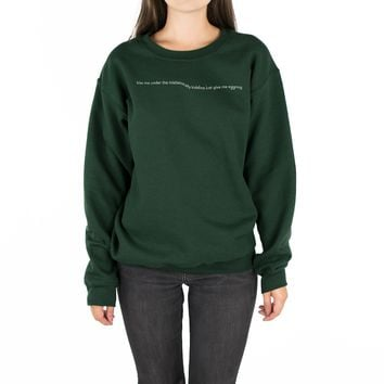 Mistletotally Kidding Crewneck Sweatshirt