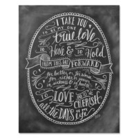 Wedding Vows - Print & Canvas