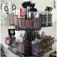 Black Make-Up Carousel Organizer for the Bathroom